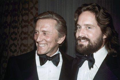 Kirk y Michael Douglas (AP)