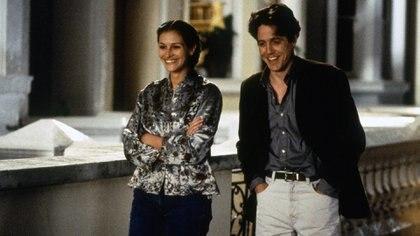 """Hugh Grant en una escena de """"Notting Hill"""" con Julia Roberts"""