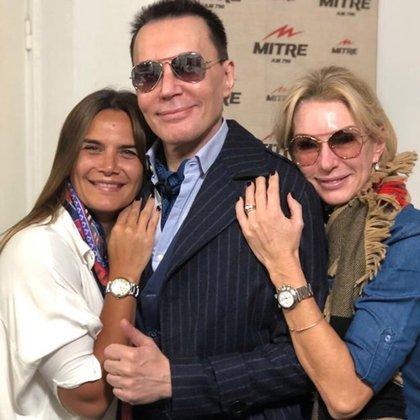 Inseparables. Granata, Polino y Yanina hoy, en la radio; la flamante legisladora seguirá en el programa aún después de asumir su cargo (Foto: Twitter)