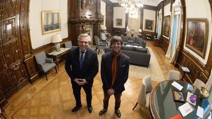 El presidente Alberto Fernández y Sabino Vaca Narvaja