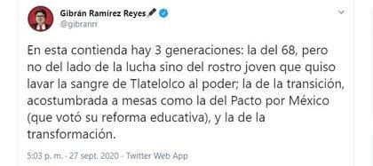 Gibrán Reyes arremetió contra  sus compañeros de Morena (Foto: Twitter / @gibranrr)