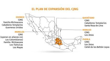 Mapa: Infobae México