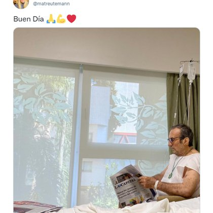 """""""Buen Día"""": la imagen que compartió la hija de Carlos Reutemann y confirmó su mejoría (matreutemann)"""