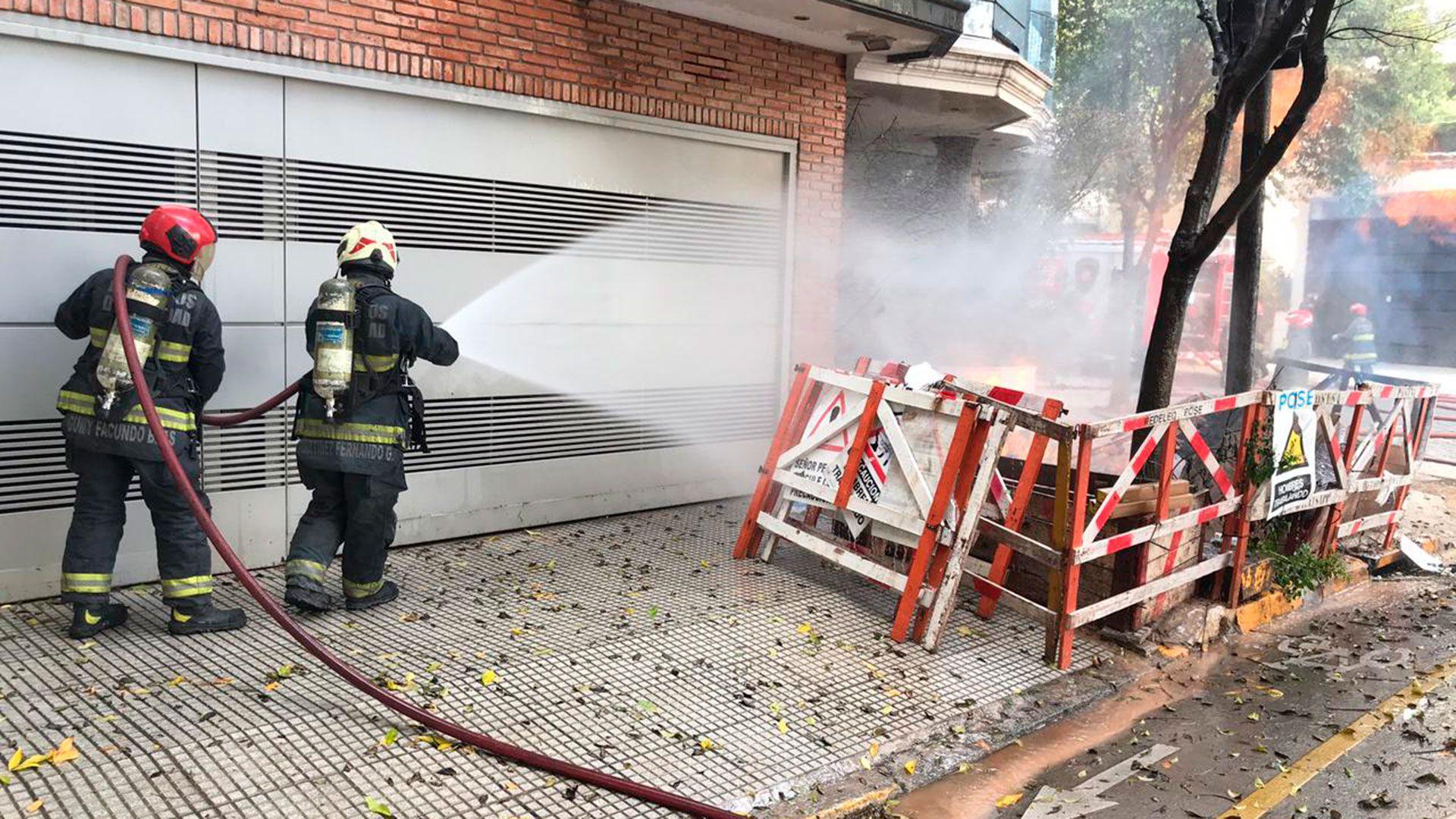 Incendio en Caballito
