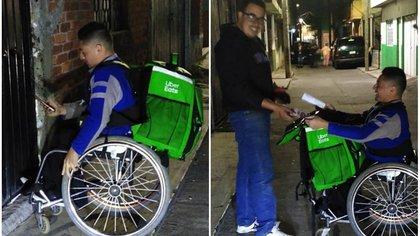 El joven compartió en Facebook cómo sale adelante al trabajar como repartidor Foto: (Facebook Dany Marquez)