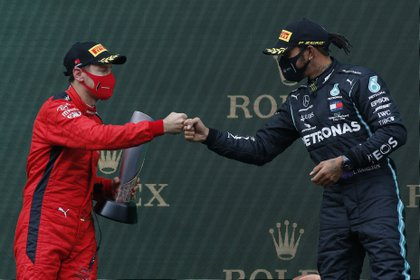 Vettel quedó tercer detrás de Hamilton y Pérez (Foto: Reuters)