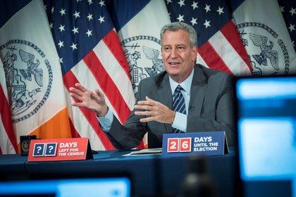 Bill de Blasio, alcalde de Nueva York (EFE/Ed Reed/Alcaldía de Nueva York)