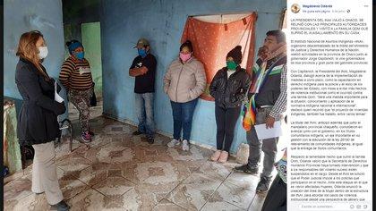 Luego de visitar la provincia de Chaco, Magdalena Odarda, presidenta del Instituto Nacional de Asuntos Indígenas (INAI) también contrajo el virus.
