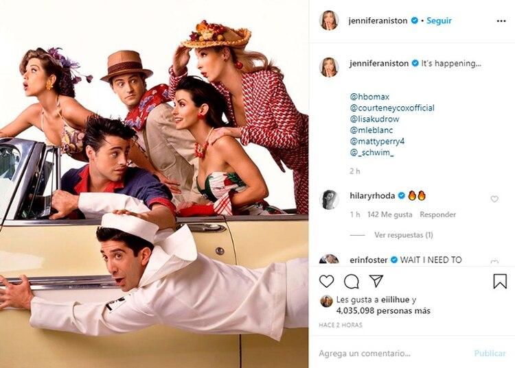 La foto con la que Jennifer Aniston anunció el especial de la histórica serie