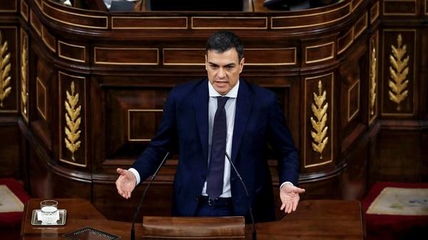 Discursode Sánchez ante el parlamento español (Reuters)
