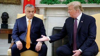 Donald Trump se refirió al conflicto con Irán durante su reunión con Viktor Orban, primer ministro de Hungría, en la Casa Blanca (Reuters)