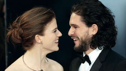 Rose Leslie, Kit Harington, The Olivier Awards, Royal Opera House Covent Garden, London UK, 03 April 2016,