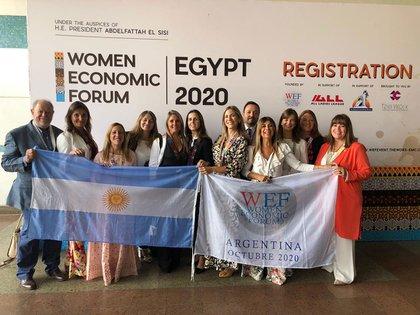 La delegación argentina en Egipto