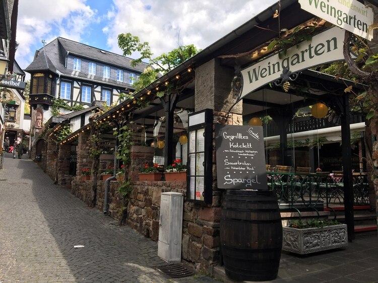 Una vinoteca de Rüdesheim