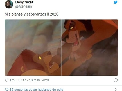 """Existen muchos memes denominados: """"Mis planes vs. el 2020"""".  (Foto: Twitter)"""