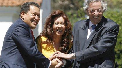 Hugo Chávez, inspiración para la estretegia comunicacional de los Kirchner (AFP)