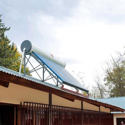 El colector solar instalado por Ford para darle electricidad y calefacción a las instalaciones.