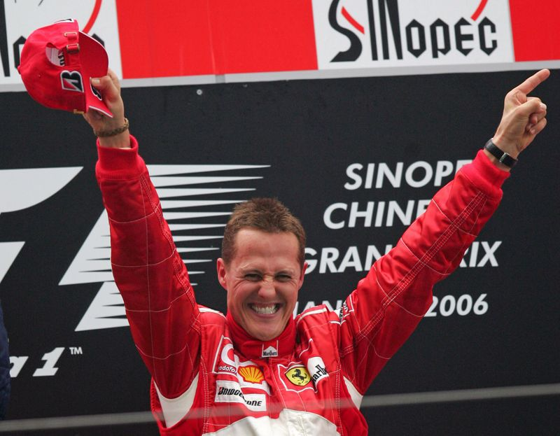 Michael Schumacher terminó detrás de Senna en la lista de los más rápidos de la F1 (REUTERS/Aly Song)