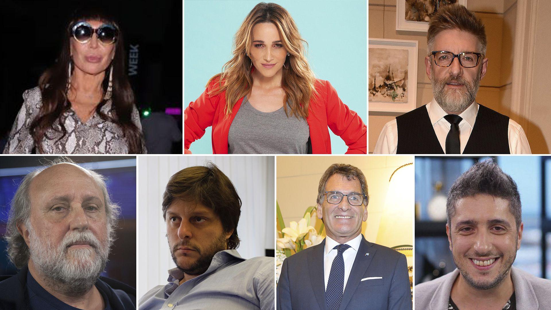 Moria Casán, Verónica Lozano, Luis Novaresio, Daniel Grinbank, Leandro Santoro, Claudio Avruj y Jey Mammon