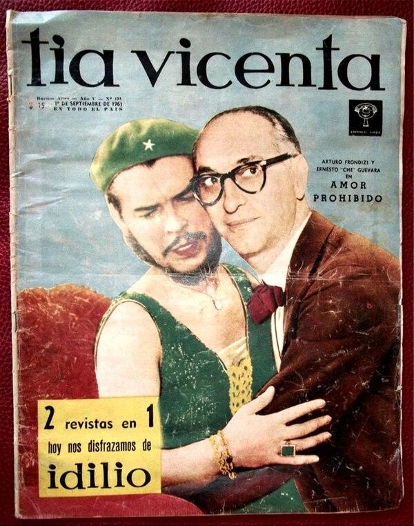 La versión de la revista satírica Tía Vicenta sobre el encuentro Guevara – Frondizi