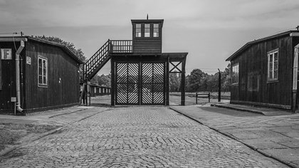 La entrada del campo de concentración de Stutthof
