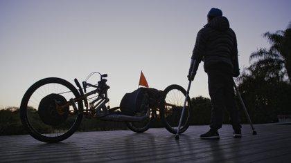 Para él, su bicicleta adaptada significa libertad (Foto: gentileza Jean Maggi)