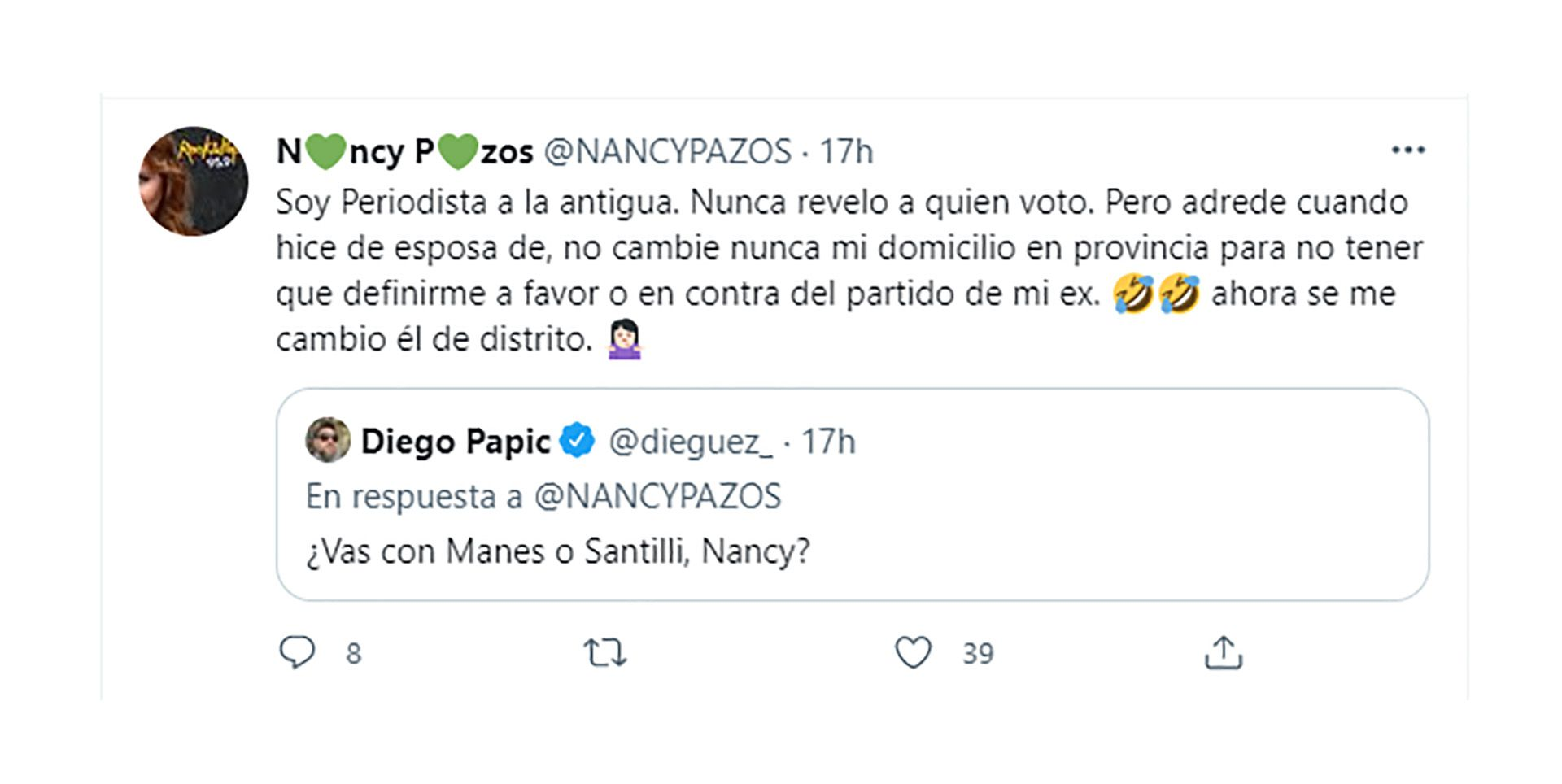 Nancy Pazos Diego Santilli