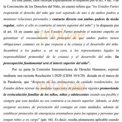 Fragmento del fallo de la magistrada Agustina Díaz Cordero