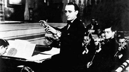 Juan D´Arienzo y su orquesta típica.