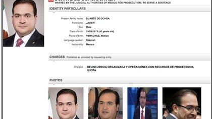La defensa de Javier Duarte quería que el juez le cambiará la medida cautelar por libertad condicional o prisión domiciliaria (Foto: Especial)