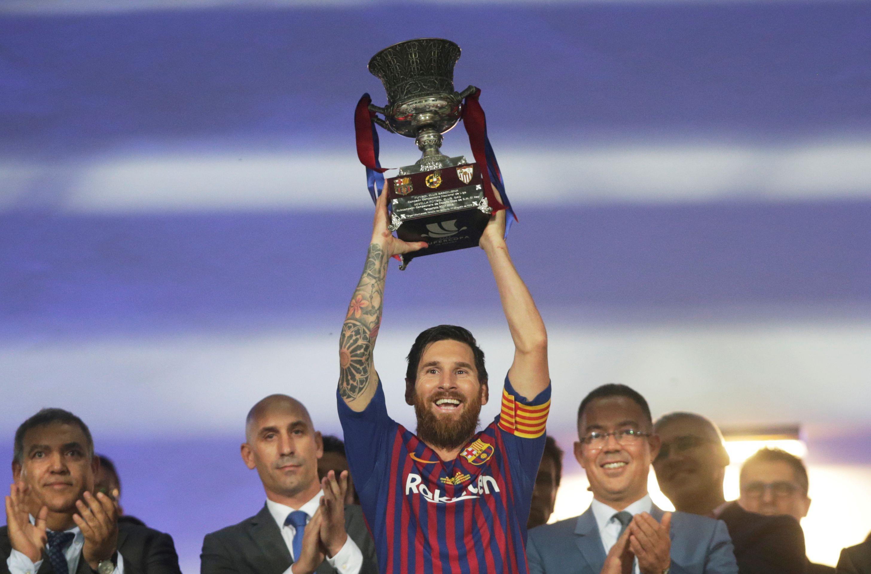 La Supercopa de España 2018, uno de los títulos que Barcelona le ganó a Sevilla (Foto: Reuters)