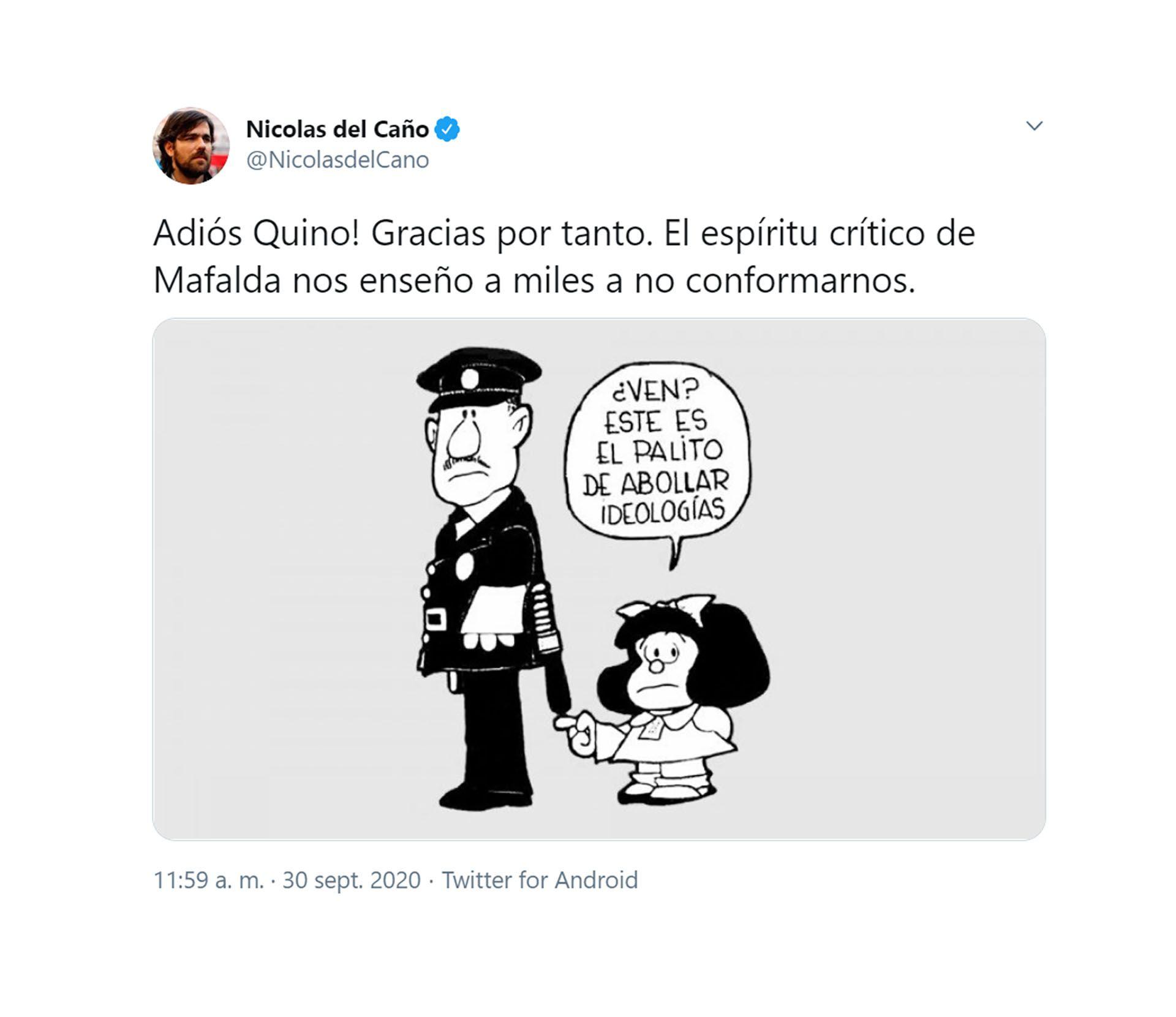 tuits famosos muerte quino
