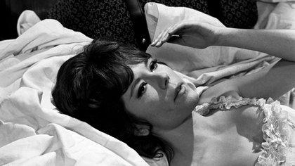 """1968. Diana Rigg es una escena de """"The Assassination Bureau"""" (AP Photo/Bob Dear, File)"""