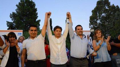 Axel Kicillof y Alberto Ferández fueron algunos de los referentes K que hicieron campaña por Rioseco,en Neuquén antes de que se sumara Cristina Kirchner (Gentileza LMNeuquén)