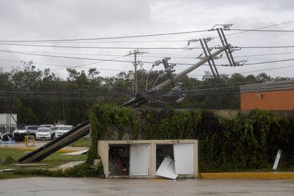 El gobierno de Quintana Roo ha reportado los primeros daños el paso del huracán Delt (Foto: Pedro Pardo / AFP)