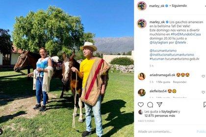 Marley y Lizy Tagliani en Tucumán