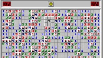 """El clásico juego """"Buscaminas"""" de Microsoft"""