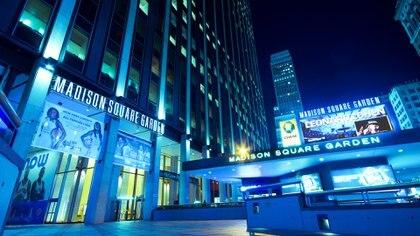 El Madison Sq Garden se ubica en el centro de la ciudad de Nueva York
