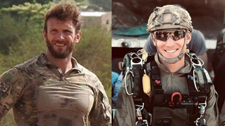 Cédric de Pierrepont y Alain Bertoncello, soldados franceses muertos en un reciente operativo de resctae de rehenes en Burkina Faso (AP)