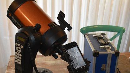 Se requiere de un telescopio. (Foto: @ANTONIO_MORENO )