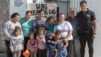 Braian Toledo en su proyecto solidario