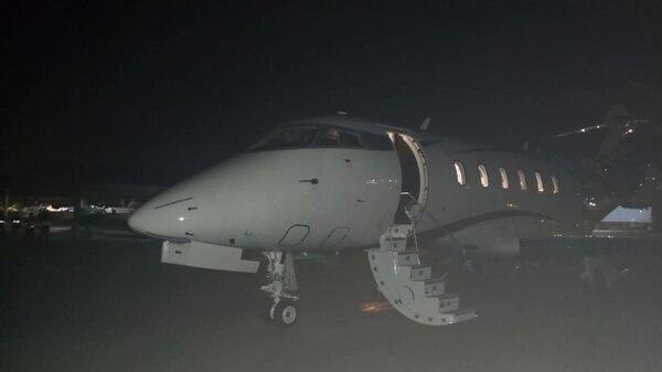 El avión que traslada a Mahmoud Alí Barakat (Foto: Ministerio Público de Paraguay)