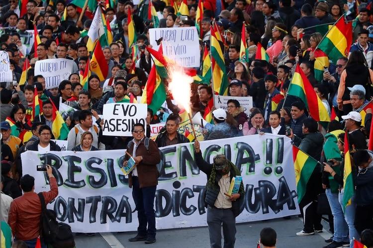 Protestas en Bolivia. (Shutterstock)