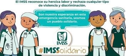 IMSS pide a la población ser solidarios. (Foto: @Tu_IMSS)