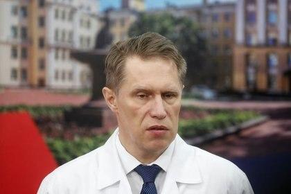 """El Ministro de Salud ruso, Mikhail Murashko, en la Universidad Nacional de Investigaciones Médicas de Rusia """"N.I. Pirogov"""", Moscú, Rusia, 3 abril 2020. REUTERS/Maxim Shemetov/Imagen de archivo"""