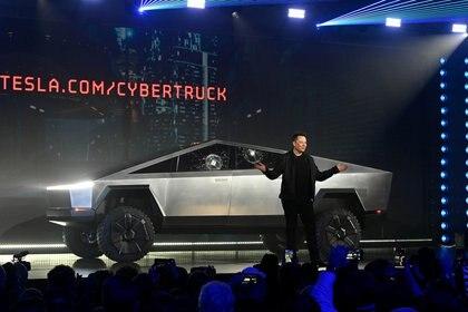 La accidentada presentación de la Cybertruck con Elon Musk el 21 de noviembre de 2019 en Hawthorne, California (Robert Hanashiro-USA TODAY)
