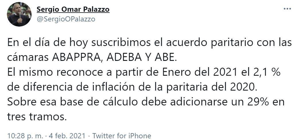 Sergio Palazzo-Paritaria