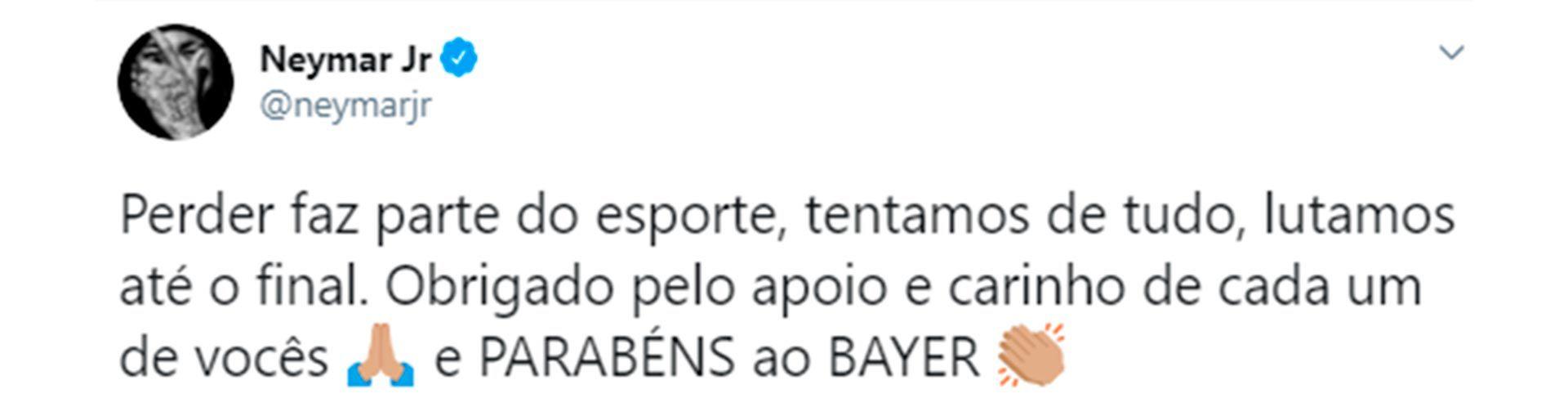 Mensaje neymar instagram / twitter SF