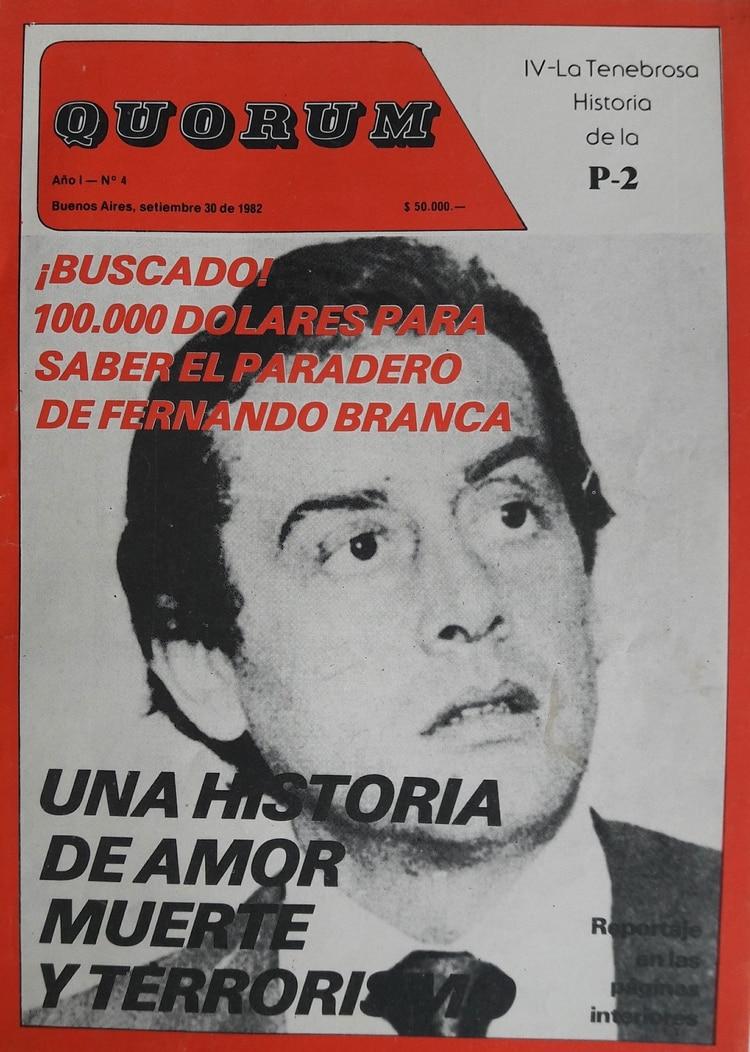 Fernando Branca en la portada de
