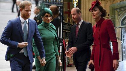 Meghan y Harry están enfrentados con William y Kate